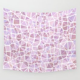 Pastel Triangles 3 Wall Tapestry