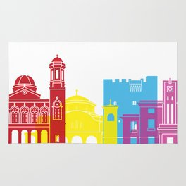 Limassol skyline pop Rug