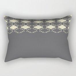 Gray Native Pattern Rectangular Pillow