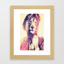 Lion man framed art prints society6 lionman framed art print m4hsunfo