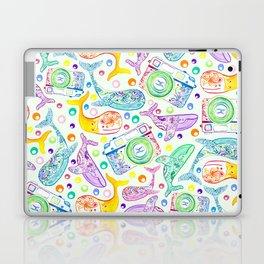 Whale Watching on Green Laptop & iPad Skin