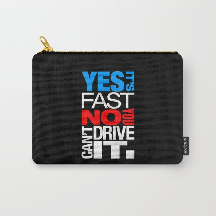 Yes it's fast No you can't drive it v1 HQvector Carry-All Pouch