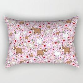 Cute Goat Design Rectangular Pillow