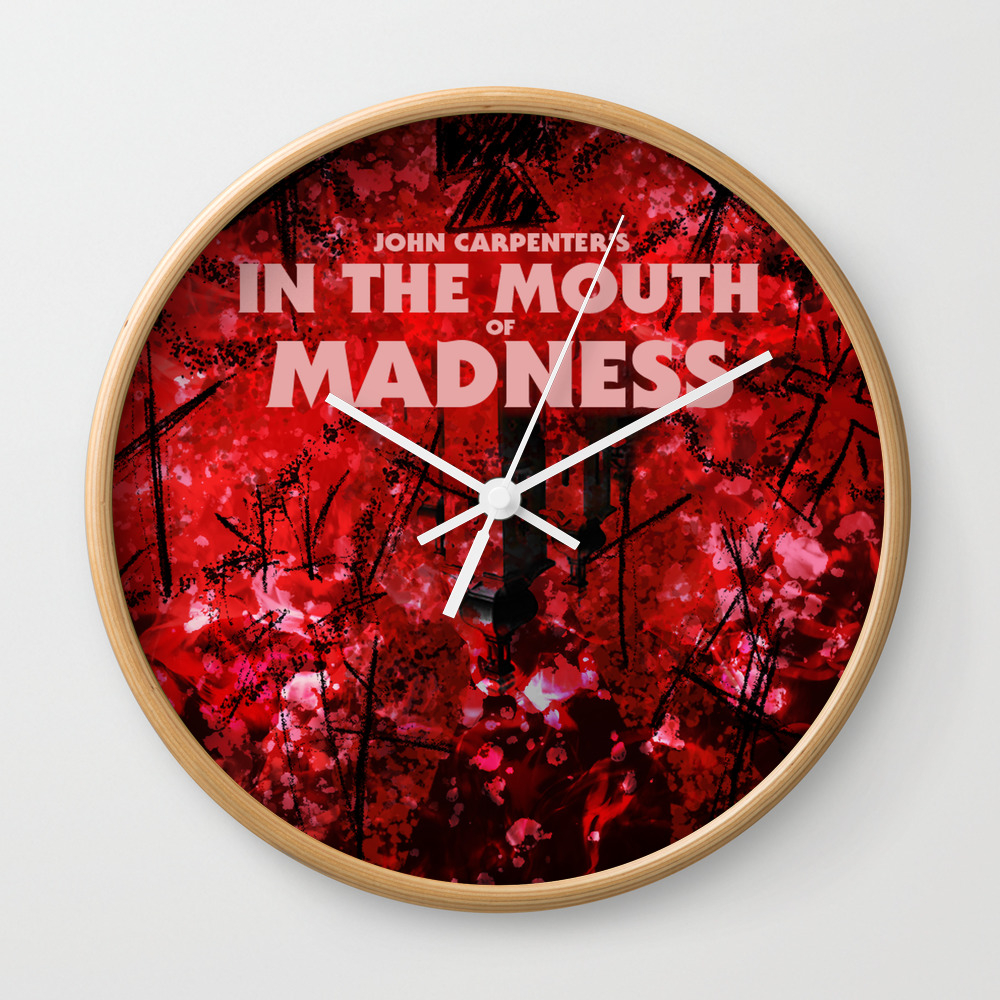 In The Mouth Of Madness Wall Clock by Drwdesign CLK9048718