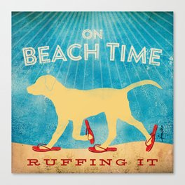 Beach Time Lab by Stephen Fowler Canvas Print