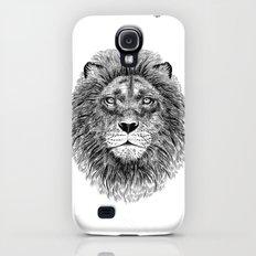 Black+White Lion Galaxy S4 Slim Case