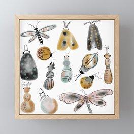 busy bugs Framed Mini Art Print