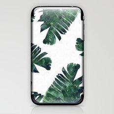 Banana Leaf Watercolor Pattern #society6 iPhone & iPod Skin