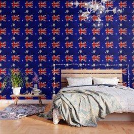 Cracked Australia flag Wallpaper