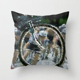 Bike race Throw Pillow