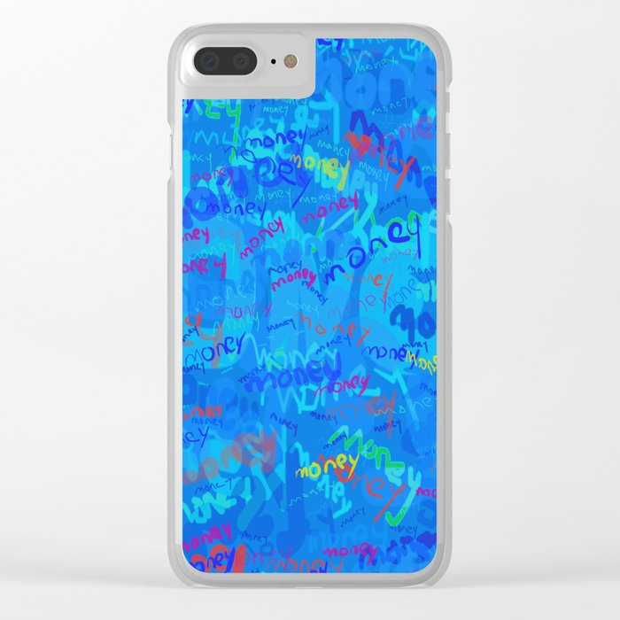 mostly blue money Clear iPhone Case