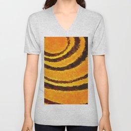 Pop Art Tiger Stripe Animal Print Unisex V-Neck