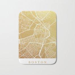 Gold Boston map Bath Mat