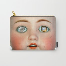 Mad-Eyed Mentalembellisher Victorian Porcelain Doll Carry-All Pouch