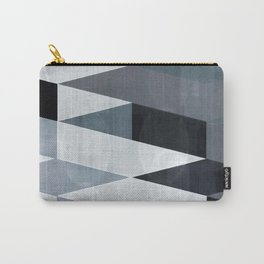blue abstract, abstract art, office art, contemporary art, geometric print, modern painting, mid cen Carry-All Pouch
