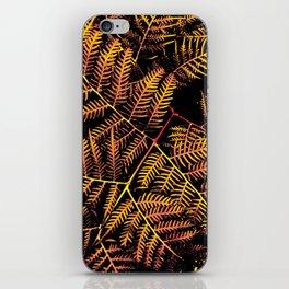 Peachy Yellow Bracken iPhone Skin