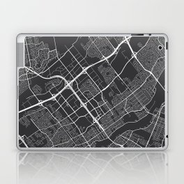 Laval Map, Canada - Gray Laptop & iPad Skin