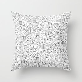 All Tech Line / Highly detailed computer circuit board pattern Throw Pillow