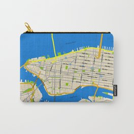 Manhattan Map Design Carry-All Pouch