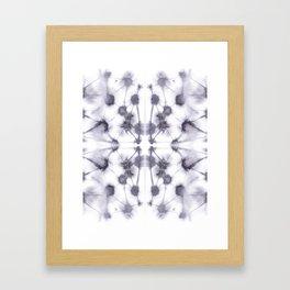 Mirror Dye Stone Framed Art Print