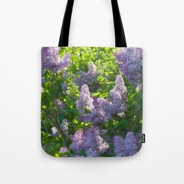 Summer lilac nature pattern Tote Bag
