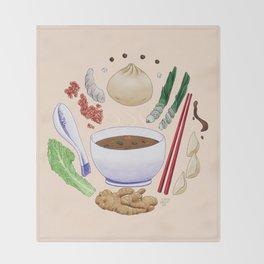 Dumpling Diagram Throw Blanket