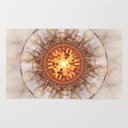 Aztec Medailon - Abstract Fractal Artwork Rug