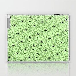 Cryptid Pattern: Black on Green Laptop & iPad Skin
