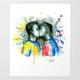 Kiss players Art Print