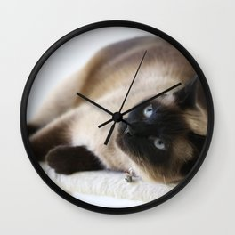Sulley, A Siamese Cat Wall Clock