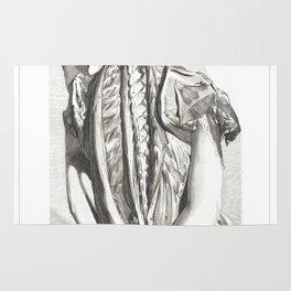 Human Anatomy Art Print BONES BACK MUSCLE Vintage Anatomy, doctor medical art, Antique Book Plate Rug