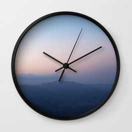 Blue Hills at Sunset Wall Clock