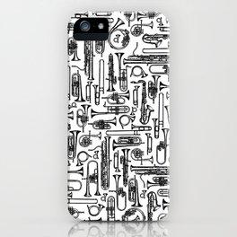 Horns B&W II iPhone Case