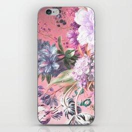 Pink Misty Master Floral iPhone Skin