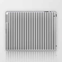 Vertical Lines (White/Gray) Laptop & iPad Skin