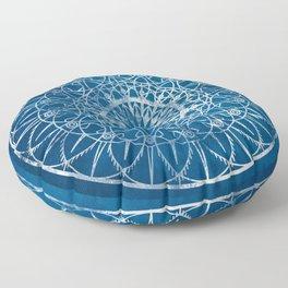 Fire Blossom - Blue Floor Pillow