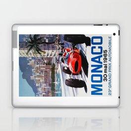 Grand Prix Monaco, 1965, vintage poster, race poster Laptop & iPad Skin