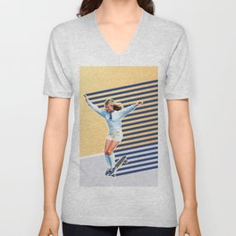 Skate Like a Girl 02 Unisex V-Neck