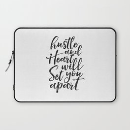 Printable Poster, hustle Hard,hustle quote,office decor,quote prints,inspirational poster,wall art Laptop Sleeve