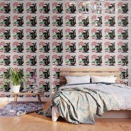 Evil Black Cat VS Christmas Tree Wallpaper