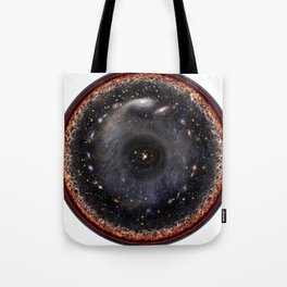 Observable universe logarithmic illustration Tote Bag