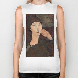 "Amedeo Modigliani ""Adrienne (Woman with Bangs)"" (1916) Biker Tank"