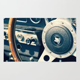 Old Triumph Wheel / Classic Cars Photography Rug