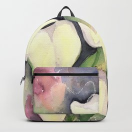 White Tulips at night Backpack