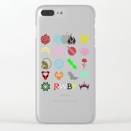 RWBY Emblems Clear iPhone Case