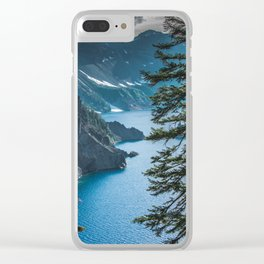 Blue Crater Lake Oregon in Summer Clear iPhone Case