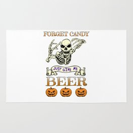 Halloween Costume Forget Candy Just Give Me Beer Gift Rug