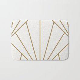 Diamond Series Sun Burst Gold on White Bath Mat