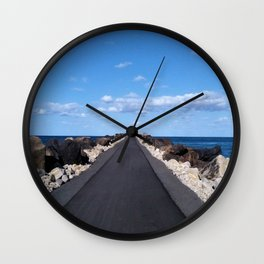 Pathway to the Ocean Wall Clock