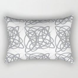 Curvy1Print Grey and White Rectangular Pillow